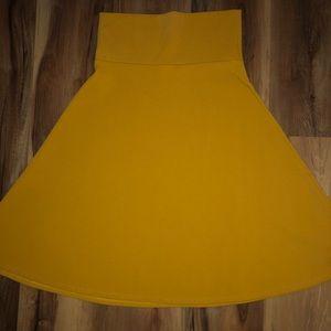 Lularoe Azure skirt solid mustard